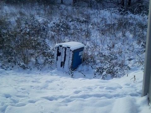 Miet WC im Winterschlaf